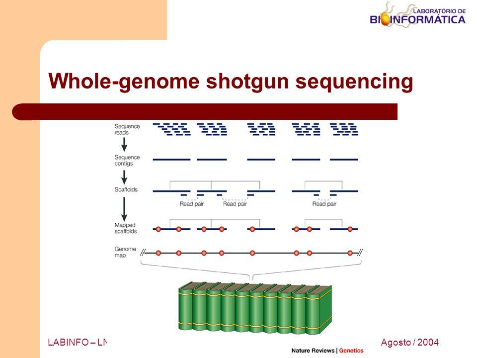 Agosto / 2004LABINFO – LNCC / MCT Whole-genome shotgun sequencing