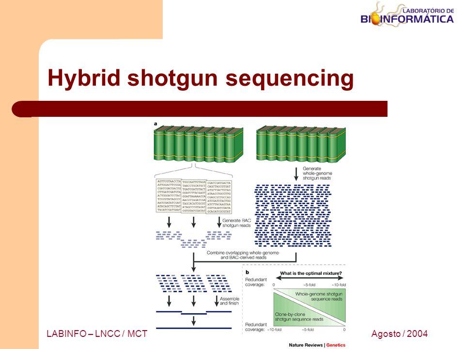 Agosto / 2004LABINFO – LNCC / MCT Hybrid shotgun sequencing