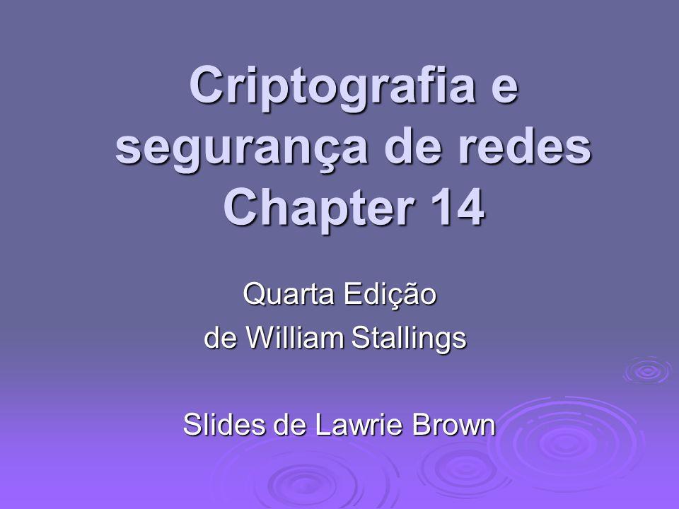 Criptografia e segurança de redes Chapter 14 Quarta Edição de William Stallings Slides de Lawrie Brown
