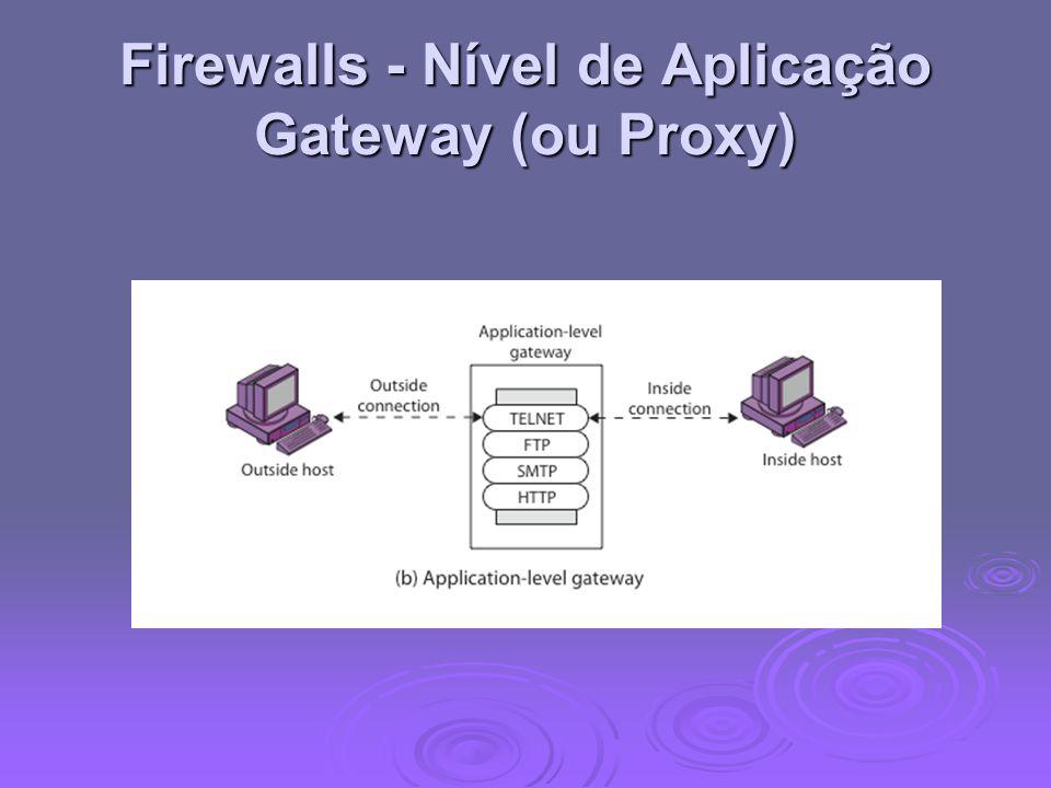 Firewalls - Nível de Aplicação Gateway (ou Proxy)