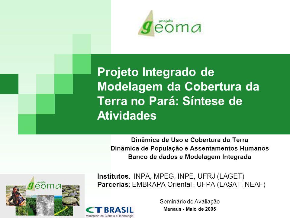 Construção de Modelos para a Amazônia Construção de Modelos de Mudanças de Uso e Cobertura da Terra para a Amazônia em Múltiplas escalas (Tese de doutorado em andamento, Aguiar 2005).