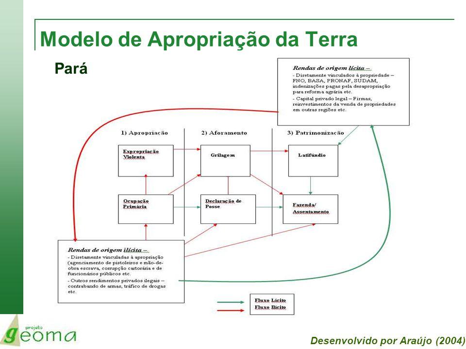 Modelo de Apropriação da Terra Pará Desenvolvido por Araújo (2004)