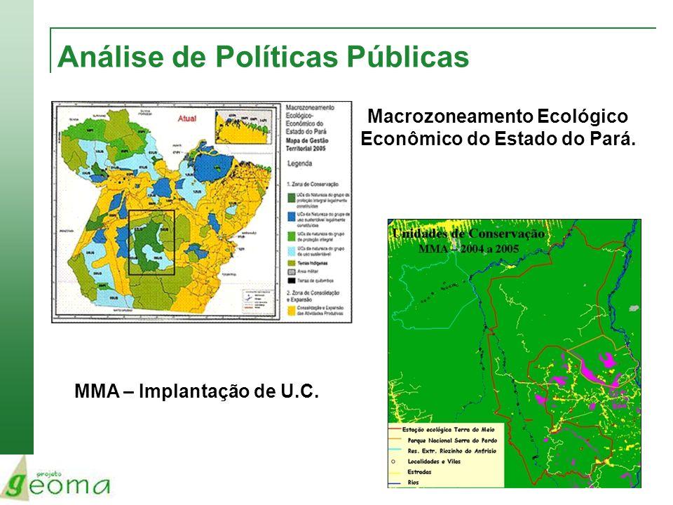 Análise de Políticas Públicas MMA – Implantação de U.C. Macrozoneamento Ecológico Econômico do Estado do Pará.