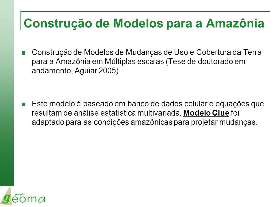 Construção de Modelos para a Amazônia Construção de Modelos de Mudanças de Uso e Cobertura da Terra para a Amazônia em Múltiplas escalas (Tese de dout