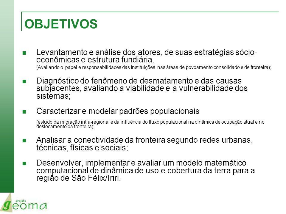 Marabá – 2003/2004 Diagnóstico: Dinâmica Territorial e Socioambiental de Áreas Consolidadas: O Caso da Região de Marabá.