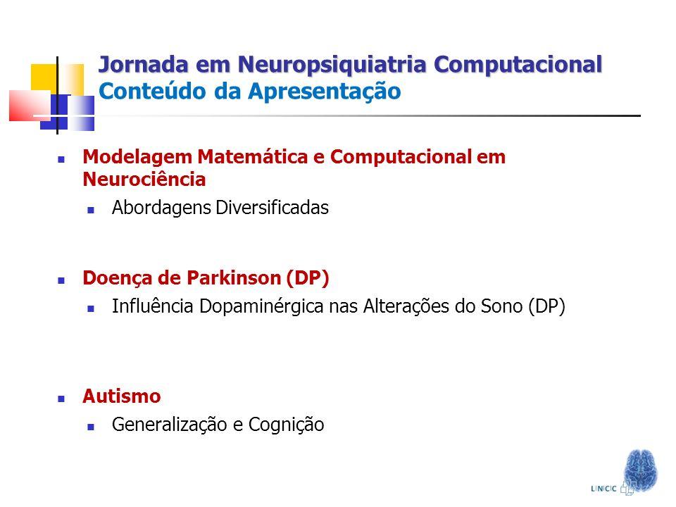 Modelagem Matemática e Computacional em Neurociência Abordagens Diversificadas Doença de Parkinson (DP) Influência Dopaminérgica nas Alterações do Son