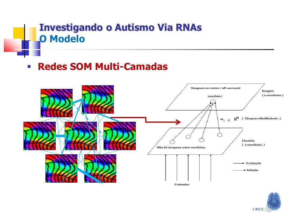 Investigando o Autismo Via RNAs Investigando o Autismo Via RNAs O Modelo Redes SOM Multi-Camadas