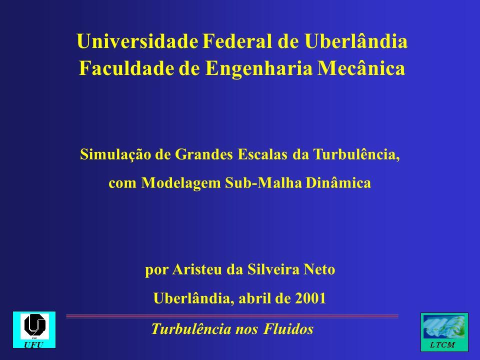 Universidade Federal de Uberlândia Faculdade de Engenharia Mecânica Simulação de Grandes Escalas da Turbulência, com Modelagem Sub-Malha Dinâmica por