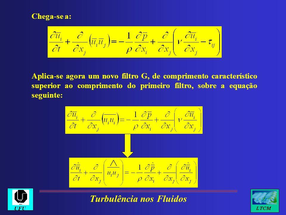 Chega-se a: Aplica-se agora um novo filtro G, de comprimento característico superior ao comprimento do primeiro filtro, sobre a equação seguinte: Turb