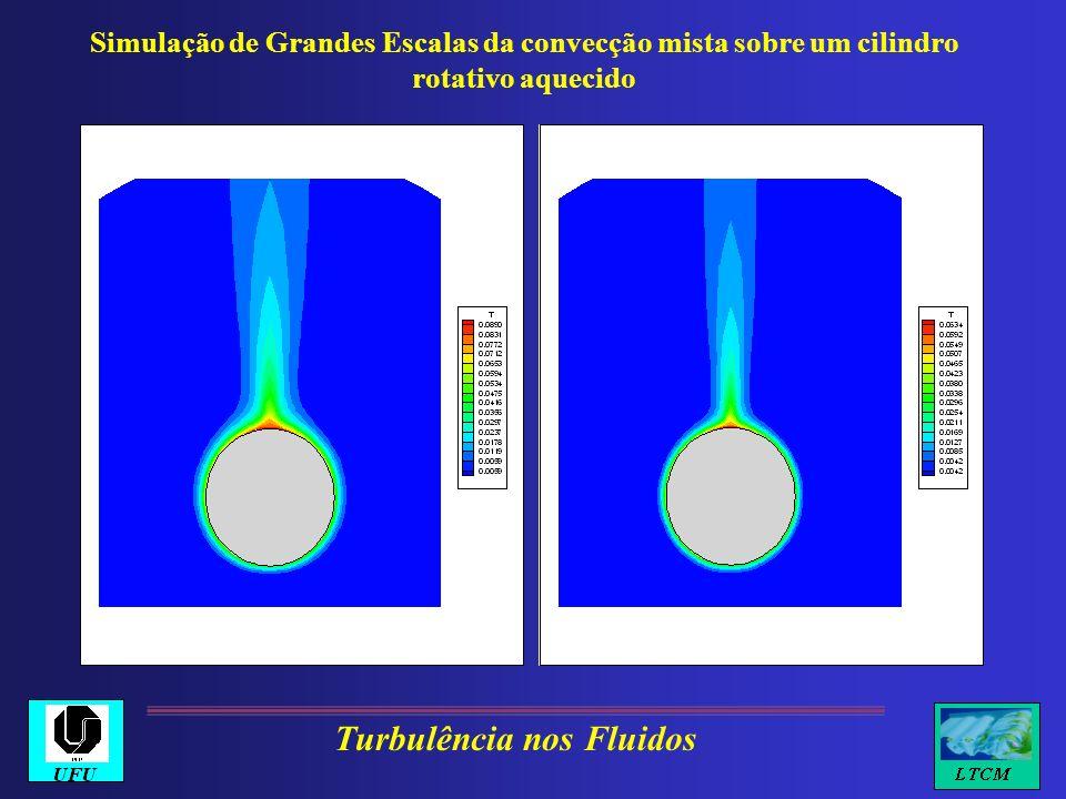 Simulação de Grandes Escalas da convecção mista sobre um cilindro rotativo aquecido Turbulência nos Fluidos