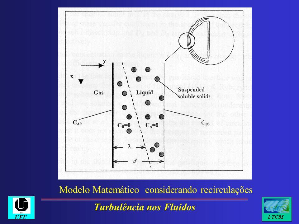 Modelo Matemático considerando recirculações Turbulência nos Fluidos