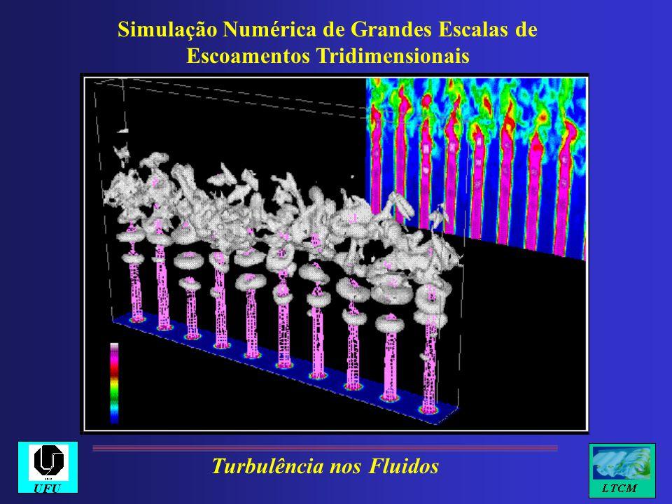 Simulação Numérica de Grandes Escalas de Escoamentos Tridimensionais Turbulência nos Fluidos