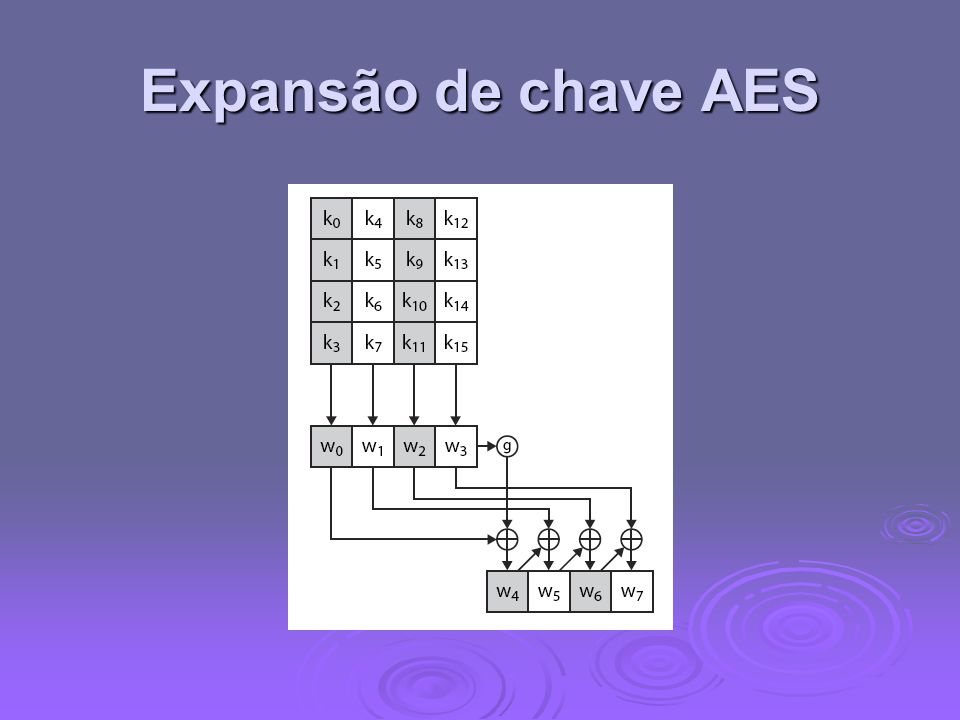 Expansão de chave AES
