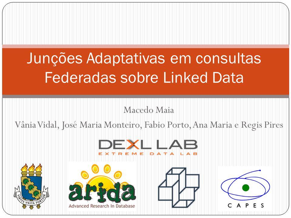 Macedo Maia Vânia Vidal, José Maria Monteiro, Fabio Porto, Ana Maria e Regis Pires Junções Adaptativas em consultas Federadas sobre Linked Data