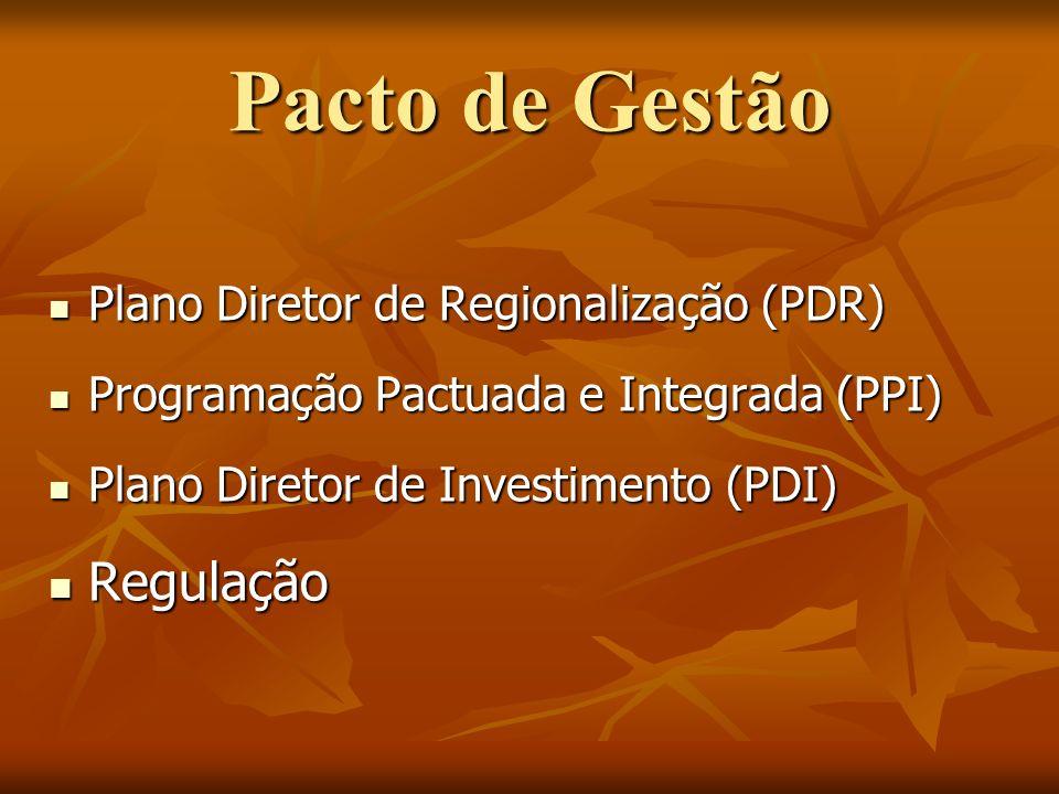 Plano Diretor de Regionalização (PDR) Plano Diretor de Regionalização (PDR) Programação Pactuada e Integrada (PPI) Programação Pactuada e Integrada (P