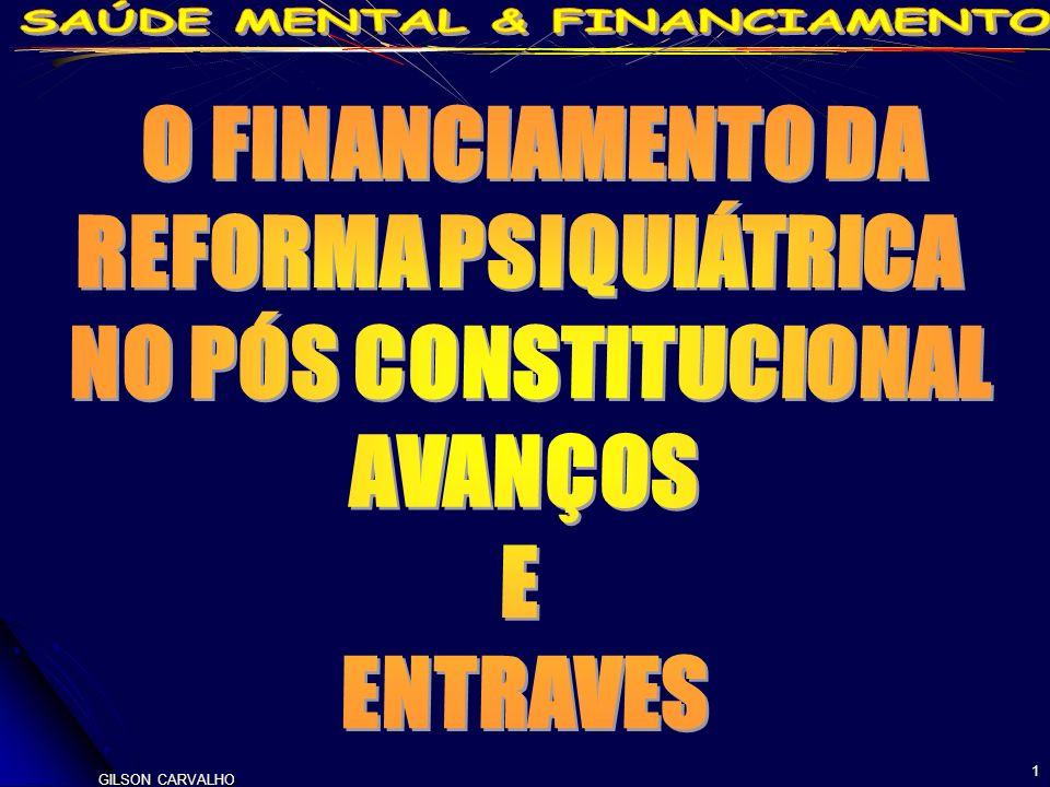 GILSON CARVALHO 12 O DESTINO DO DINHEIRO MOSTRA O CAMINHO DA POLÍTICA 1991- PT SAS 189/91 E 224/92 MS-INAMPS (ALCENI-ACKEL) MUDANÇAS RADICAIS NO FINANCIAMENTO – CLASSIFICAÇÃO DA PSIQUIATRIA (I,II,III,IV.V) E PAGAMENTO A CAPS-NAPS MANTIDO E APRIMORADO POR PORTARIAS 1992 (408)-1993-1994(145-147)