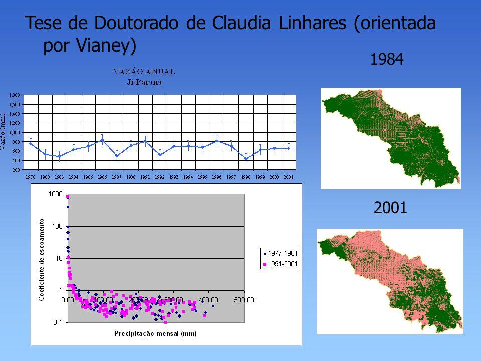 Tese de Doutorado de Claudia Linhares (orientada por Vianey) 1984 2001