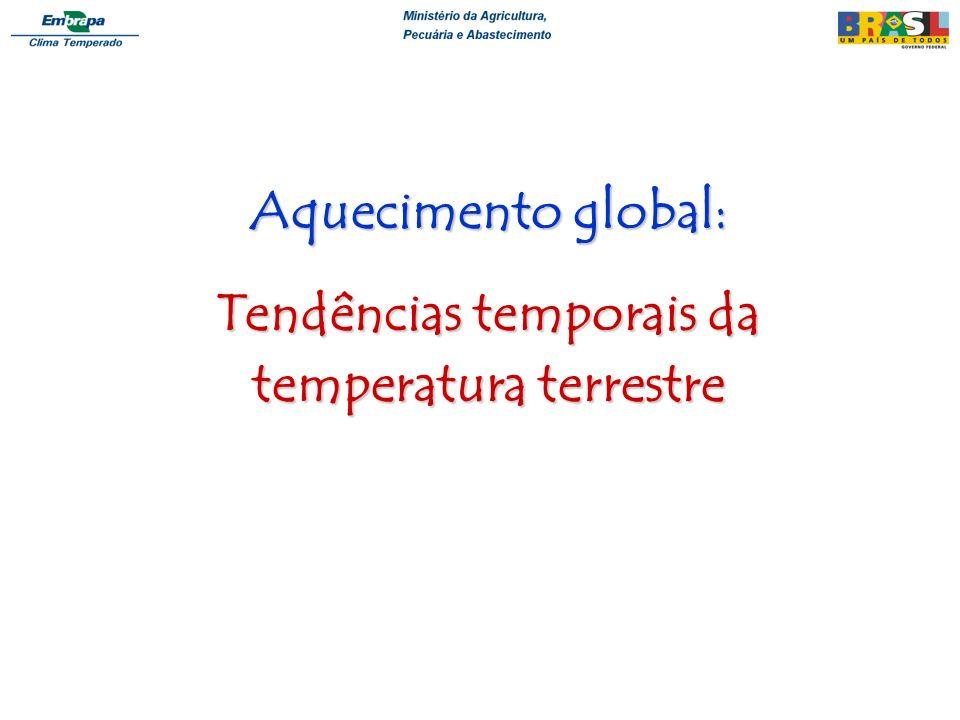 Aquecimento global: Tendências temporais da temperatura terrestre