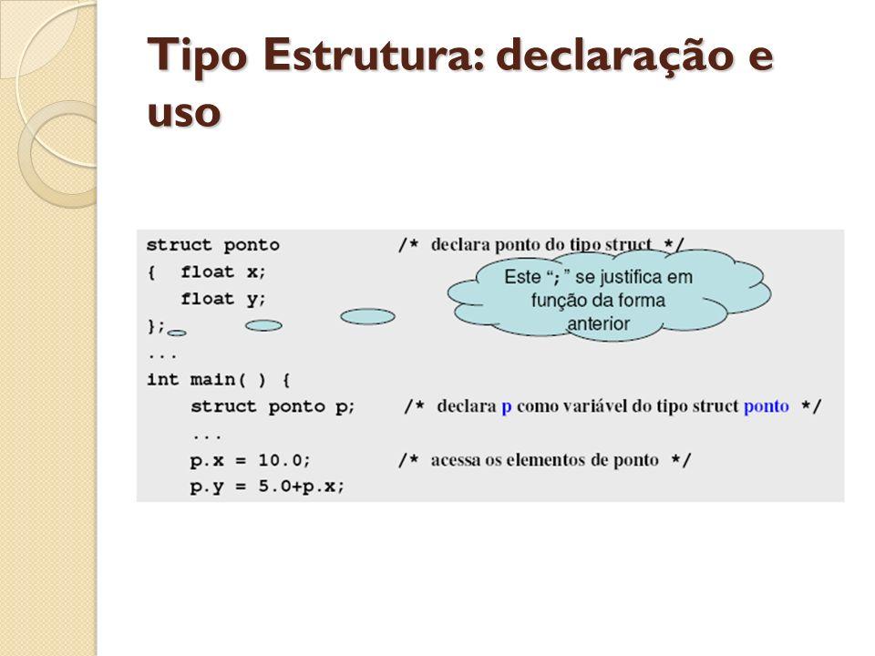 Tipo Estrutura: Exemplo