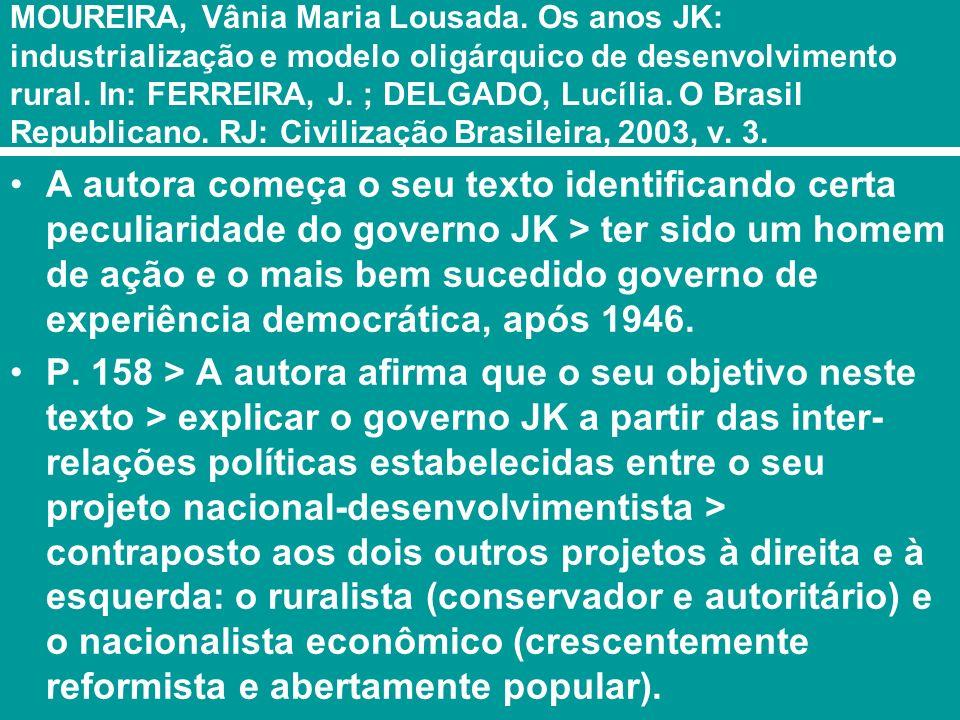 O nacional-desenvolvimentismo P.159.