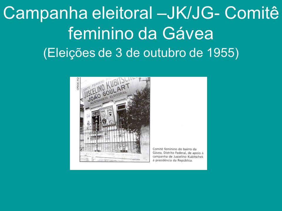Campanha eleitoral –JK/JG- Comitê feminino da Gávea (Eleições de 3 de outubro de 1955)