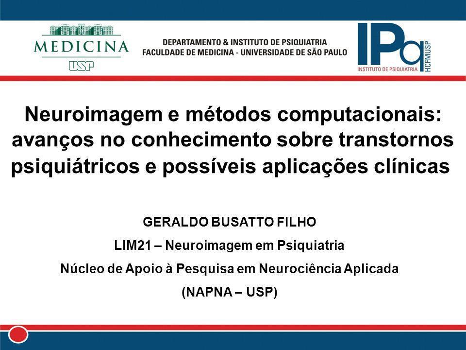 Neuroimagem e métodos computacionais: avanços no conhecimento sobre transtornos psiquiátricos e possíveis aplicações clínicas GERALDO BUSATTO FILHO LI