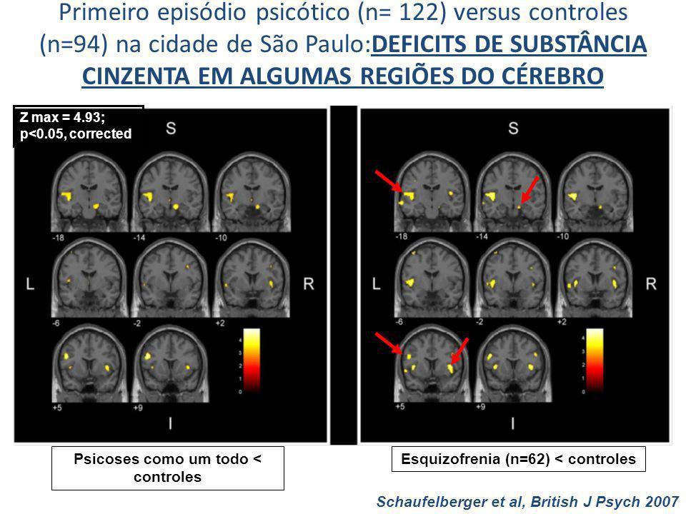 Primeiro episódio psicótico (n= 122) versus controles (n=94) na cidade de São Paulo:DEFICITS DE SUBSTÂNCIA CINZENTA EM ALGUMAS REGIÕES DO CÉREBRO Z ma