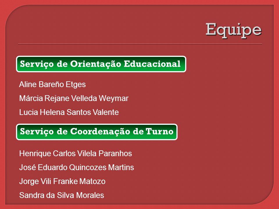 Serviço de Orientação Educacional Aline Bareño Etges Márcia Rejane Velleda Weymar Lucia Helena Santos Valente Equipe Serviço de Coordenação de Turno H