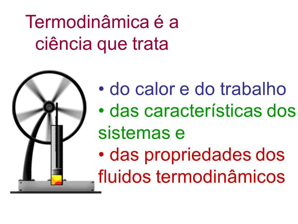 Q = τ + U τ depende de como a pressão e volume mudam no processo. V = V 2 -V 1 τ = p. V