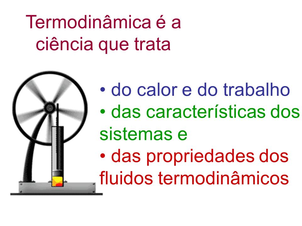 Sadi Carnot 1796 - 1832 James Joule 1818 - 1889 Rudolf Clausius 1822 - 1888 Wiliam Thomson Lord Kelvin 1824 - 1907 Emile Claupeyron 1799 - 1864 Alguns ilustres pesquisadores que construíram a termodinâmica