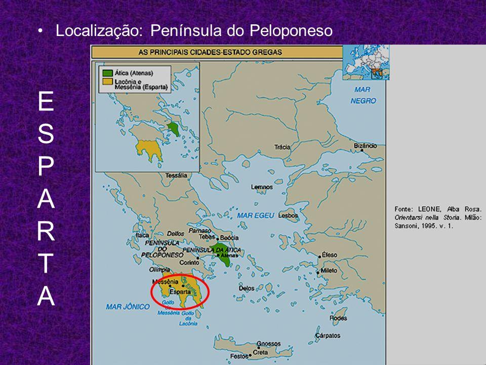 ESPARTAESPARTA Localização: Península do Peloponeso