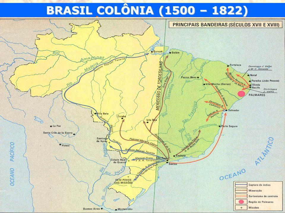 BRASIL COLÔNIA (1500 – 1822) SÉCULO DO OURO O declínio da mineração O declínio da mineração.