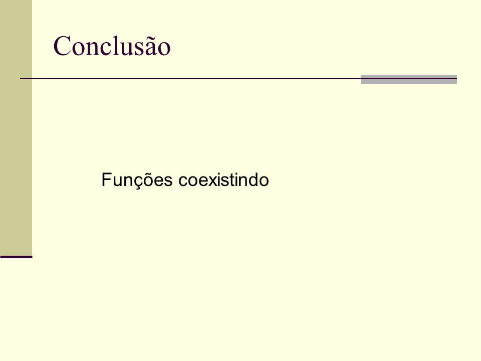 Conclusão Funções coexistindo