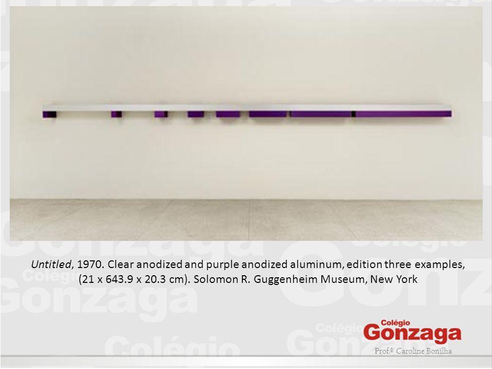 Prof.ª Caroline Bonilha Untitled, 1970. Clear anodized and purple anodized aluminum, edition three examples, (21 x 643.9 x 20.3 cm). Solomon R. Guggen