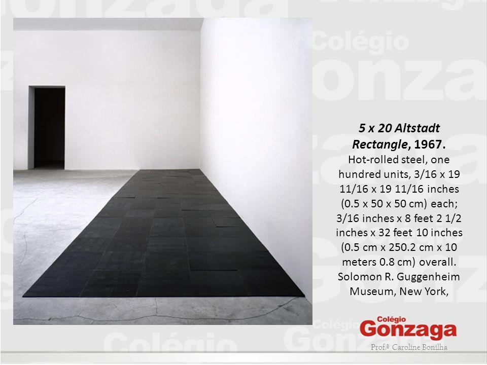 Prof.ª Caroline Bonilha 5 x 20 Altstadt Rectangle, 1967. Hot-rolled steel, one hundred units, 3/16 x 19 11/16 x 19 11/16 inches (0.5 x 50 x 50 cm) eac