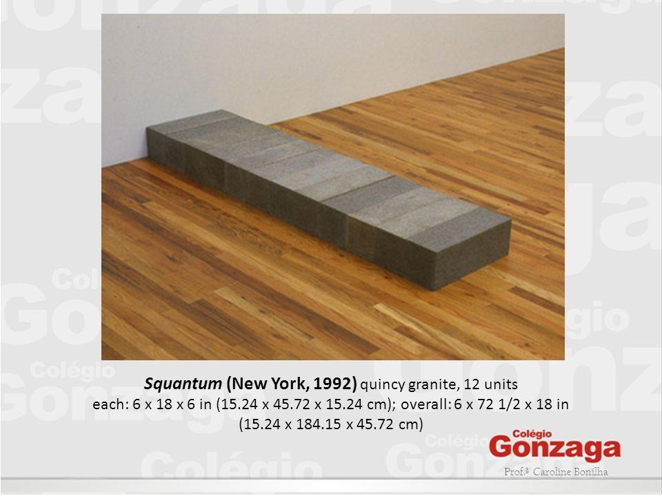 Prof.ª Caroline Bonilha Squantum (New York, 1992) quincy granite, 12 units each: 6 x 18 x 6 in (15.24 x 45.72 x 15.24 cm); overall: 6 x 72 1/2 x 18 in