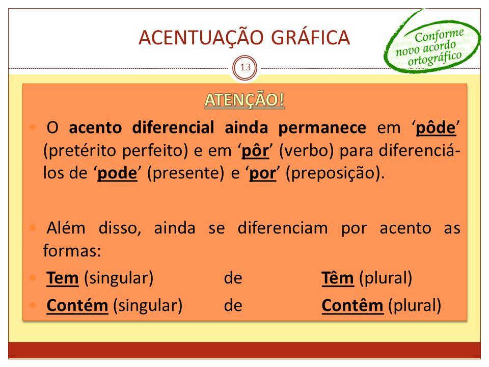 ACENTUAÇÃO GRÁFICA 13