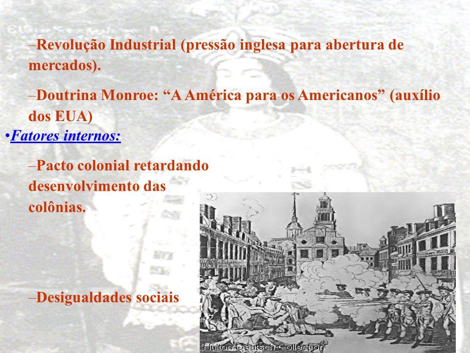 1 - Independências das nações latino-americanas: Processo de libertação das colônias espanholas. Quando: Aproximadamente entre 1810 e 1830. Fatores ex