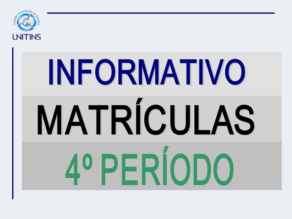 ATENÇÃO AS MATRÍCULAS DO CURSO SEQUENCIAL DE FUNDAMENTOS E PRÁTICAS JUDICIÁRIAS, 4º PERÍODO, SERÁ DE 15 A 27/01/07.
