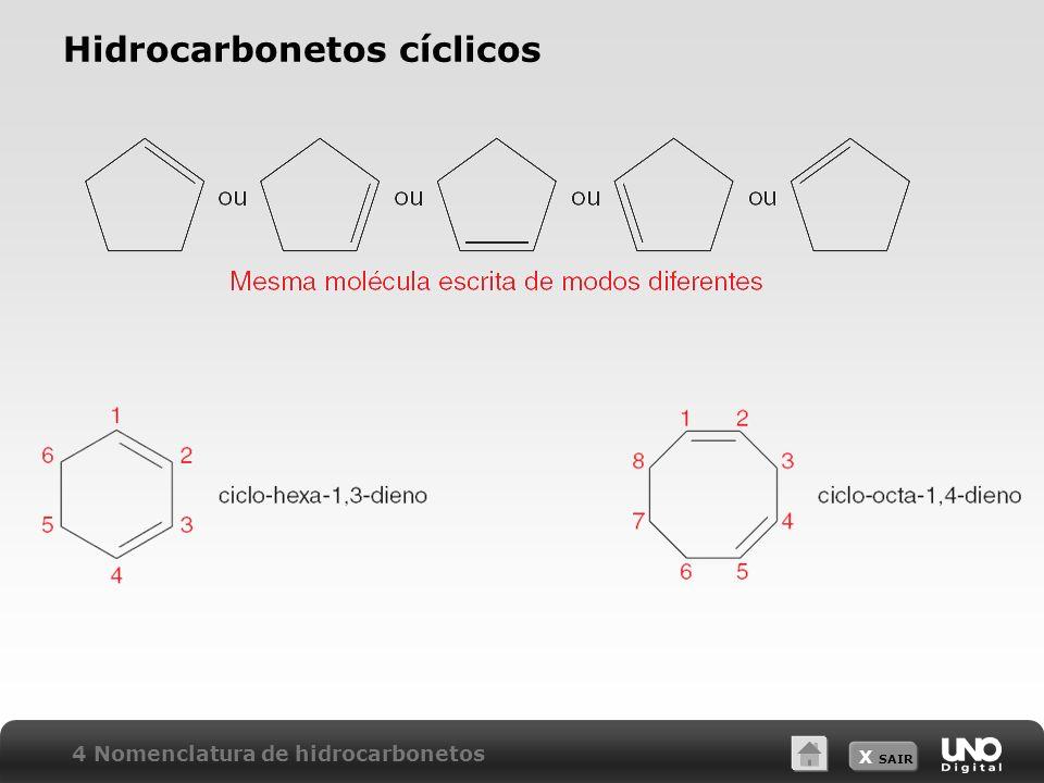 X SAIR Hidrocarbonetos cíclicos 4 Nomenclatura de hidrocarbonetos
