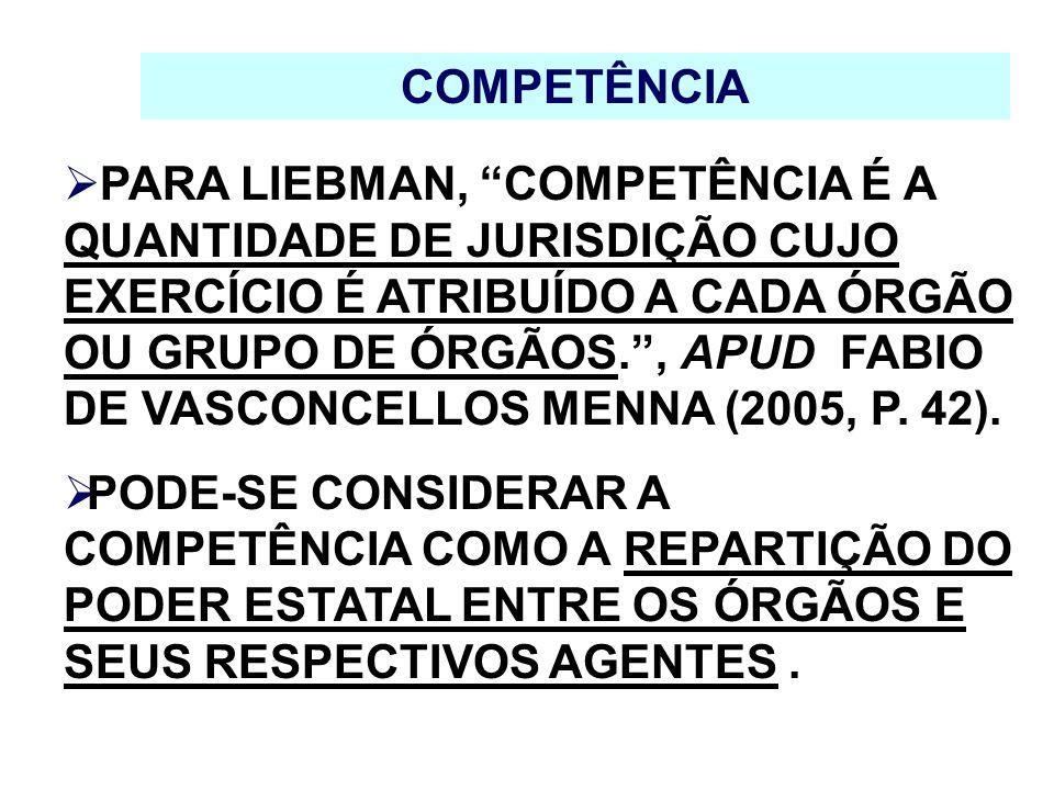 COMPETÊNCIA MATERIAL - RATIONE MATERIAE A COMPETÊNCIA FIXADA EM RAZÃO DA MATÉRIA SERÁ SEMPRE DE CARÁTER ABSOLUTO, OU SEJA, EM RAZÃO DO INTERESSE PÚBLICO NÃO PODERÁ SER MODIFICADA.