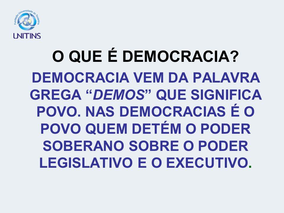 O QUE SIGINIFICA O ESTADO DEMOCRÁTICO DE DIREITO?
