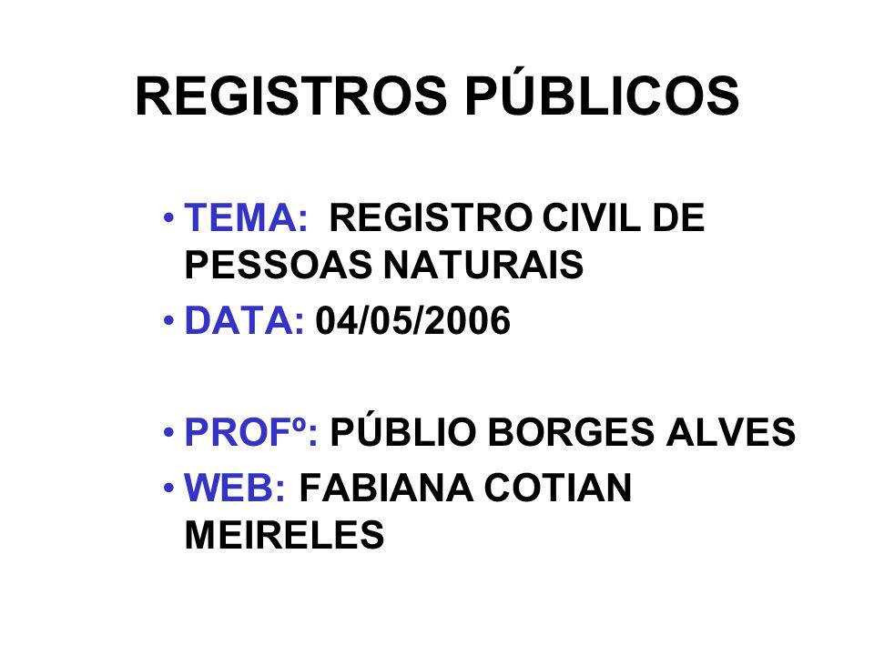 OBJETIVOS: -PRINCIPAIS INSTITUTOS E NORMAS JURÍDICAS REGULADORAS DA ATIVIDADE REGISTRAL.