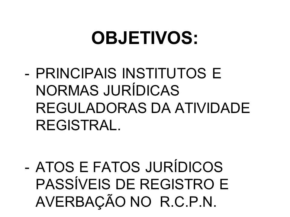 REGISTRO CIVIL DE PESSOAS NATURAIS -LEI DO DIVÓRCIO nº 6515/77: SEPARAÇÃO; DIVÓRCIO -ECA nº 8.069/90: LEGITIMAÇÃO ADOTIVA – ADOÇÃO DE MENOR -C.F.