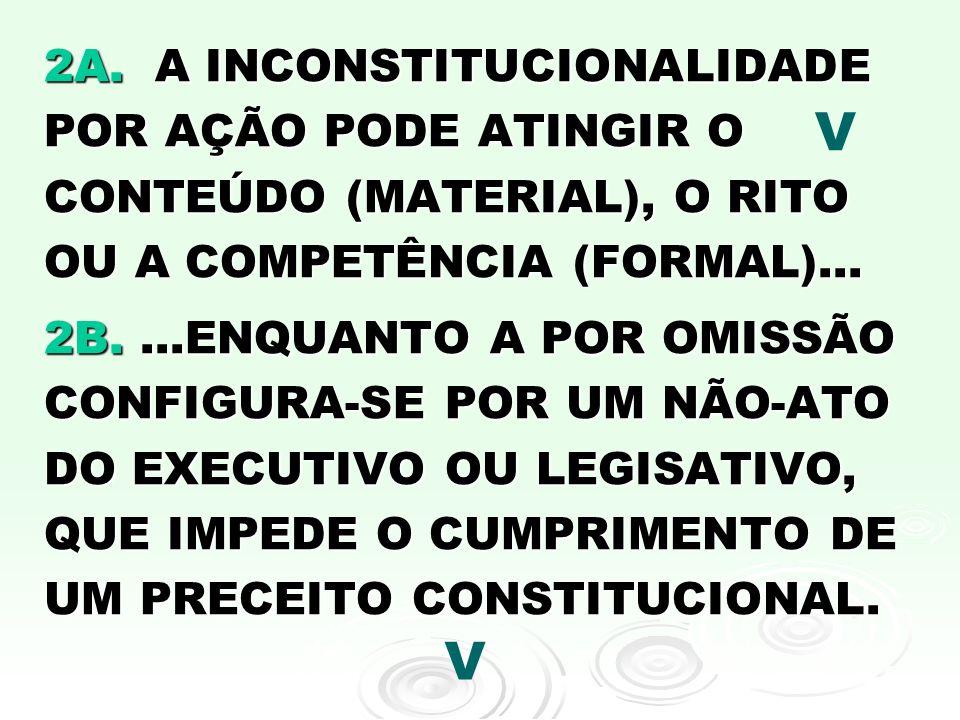 3A.ANTES DA APROVAÇÃO DE UMA LEI NÃO HÁ CONTROLE DE CONSTITUCIONALIDADE...