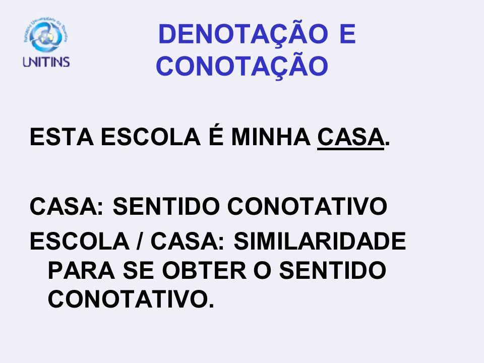 DENOTAÇÃO E CONOTAÇÃO ESTA ESCOLA É MINHA CASA.
