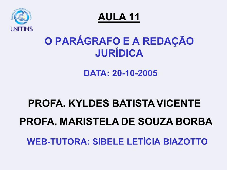 PROFA.KYLDES BATISTA VICENTE PROFA.
