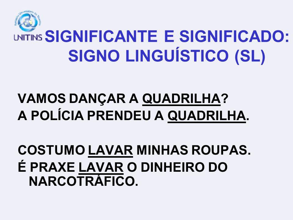 SIGNIFICANTE E SIGNIFICADO: SIGNO LINGUÍSTICO (SL) VAMOS DANÇAR A QUADRILHA.