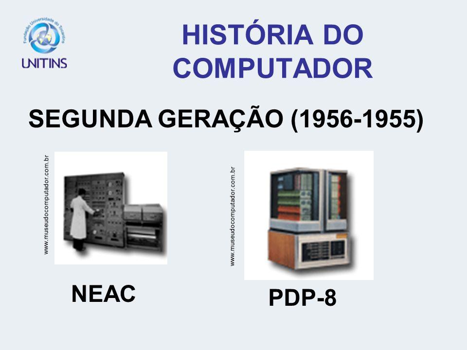 HISTÓRIA DO COMPUTADOR SEGUNDA GERAÇÃO (1956-1955) www.museudocomputador.com.br NEAC PDP-8