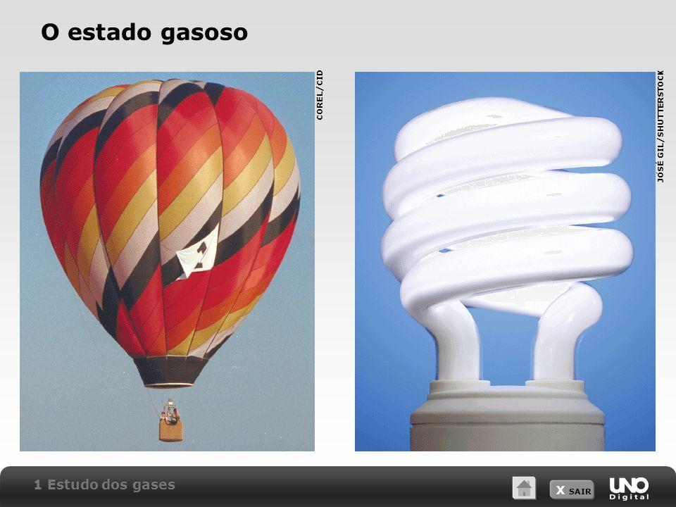 X SAIR O estado gasoso 1 Estudo dos gases COREL/CID JOSÉ GIL/SHUTTERSTOCK